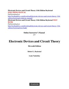 electronic devices and circuit theory 10th edition pdf ebook